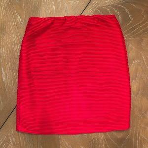 Forever 21 bright red mini skirt